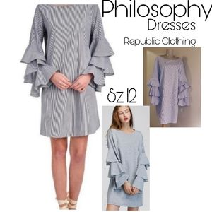 Philosophy Republic Clothing tiered ruffle sleeve